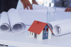Close-up view of miniature house Stock Images