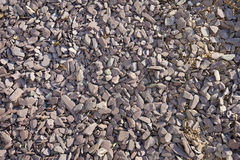Close-up view of mixed gravel and slate stones Royalty Free Stock Photography