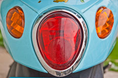 Close-up view of motorcycle rear lights Royalty Free Stock Photo