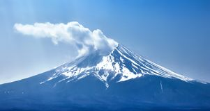 Close-up View of Mount Fuji. Japan royalty free stock photos