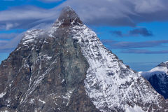 Close up view of mount Matterhorn, Alps Royalty Free Stock Images