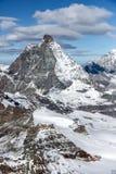 Close up view of mount Matterhorn, Alps Stock Photos