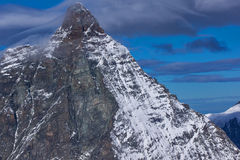 Close up view of mount Matterhorn, Alps, Switzerland Royalty Free Stock Images