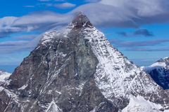 Close up view of mount Matterhorn, Alps, Switzerland Royalty Free Stock Image