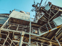 Close-up view of naval ship Stock Photography