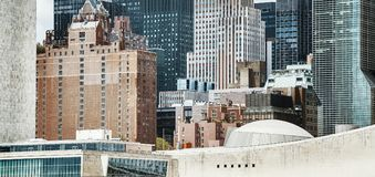 Close up view of New York architecture, color toned picture, USA stock photo