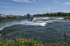 Close up view of Niagara Falls royalty free stock photo