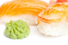 Close up view of nigiri sushi Royalty Free Stock Image
