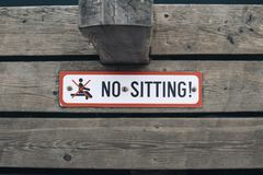 No sitting sign royalty free stock images