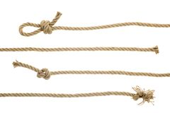 Free Close-up View Of Brown Strong Nautical Ropes With Knots Royalty Free Stock Images - 119777749