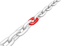 Close Up View Of Links In The Chain Royalty Free Stock Image