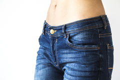 Free Close Up View Of Woman Belly And Jeans Royalty Free Stock Photos - 86664798