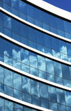 Close-up view of office building windows Royalty Free Stock Image