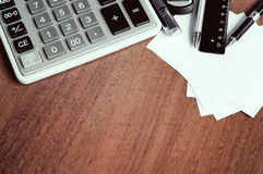 Close up view of the office tools on Royalty Free Stock Photo