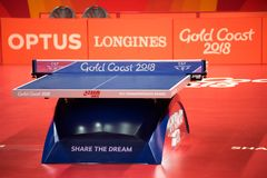 2018 Commonwealth Games Table Tennis Stock Images
