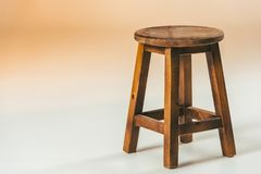 Close up view of old fashioned wooden chair royalty free stock photos