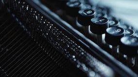 Old typewriter details. Close up view of old Typewriter details stock footage