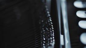 Old typewriter details. Close up view of old Typewriter details stock video