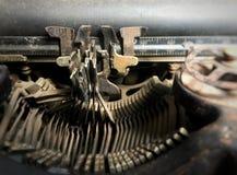 Close Up view of old typewriter keys. Typewriter / Close Up view of old typewriter keys Royalty Free Stock Image