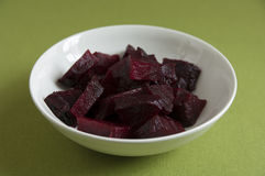 Close-up view of organic cooked Beetroot in a plate Stock Image