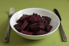 Close-up view of organic cooked Beetroot in a plate Royalty Free Stock Photo
