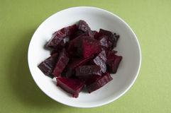 Close-up view of organic cooked Beetroot in a plate Stock Photo