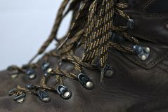 Close up view of a pair of hiking boots Stock Images