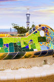 Close up view of Park Guell Stock Images