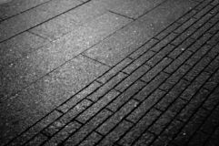 Close up view of paving stone in the street stock images