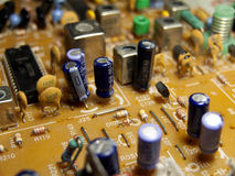 Close-up view of pcb tv. Close-up view of pcb , electronic components Royalty Free Stock Images