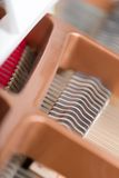 Close up view of piano chords Stock Photography
