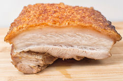 Close up view of a piece of Chinese roasted pork belly Stock Photography