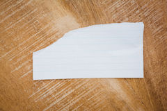 Close up view of a piece of paper Royalty Free Stock Photography