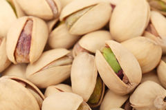 Close up view on pistachios Stock Photos