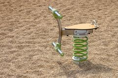 Playground spring toy. Close up view of a playground spring toy on a park Royalty Free Stock Photos