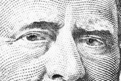 Close up view Portrait of Ulysses S. Grant on the one fifty dollar bill. Background of the money. 50 dollar bill with Ulysses S. G. Rant eyes macro shot. Money stock photography