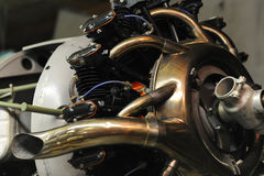Close-up view of radial engine Royalty Free Stock Photos