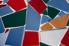 Random broken azulejo tiles Stock Images