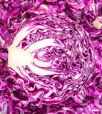 Close Up View Of Red Cabbage Royalty Free Stock Images