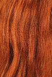 A close-up view of red hair Stock Photography