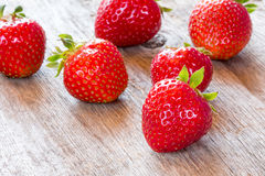 Close-up view of red strawberry. Stock Image