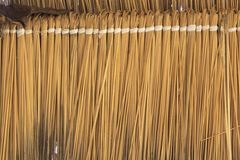 Close up view of reed thatch Royalty Free Stock Photography