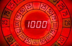 Close-up view of reel of electronic roulette Royalty Free Stock Photos