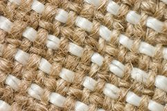 Close up view of sackcloth material Royalty Free Stock Photos