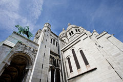 Close-up view of Sacre Coeur in Paris Stock Photography