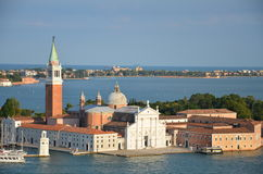 San Giorgio Maggiore - Venice - Italy. Close up view of San Giorgio Maggiore is one of the islands of Venice, northern Italy. San Giorgio is now best known for Stock Photos