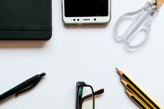 Business still life. Work space royalty free stock photography