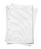 Close up view of  sheets of lined paper Stock Photos