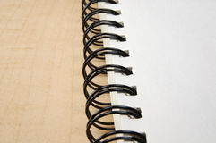 Close Up View of a Sketch Pad Binder Stock Photography