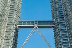 Close up view of skybridge of Petronas Twin Towers Royalty Free Stock Photos